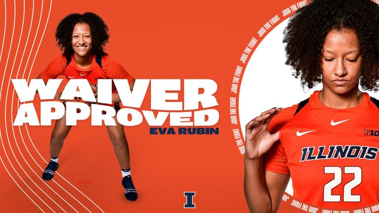 NCAA Grants Illini Center Eva Rubin's Transfer Eligibility Waiver Request