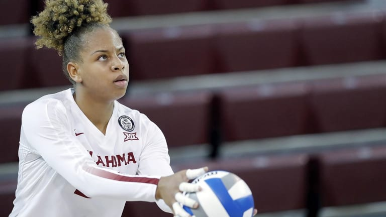Volleyball: Guewe Diouf named Big 12 Newcomer of the Week