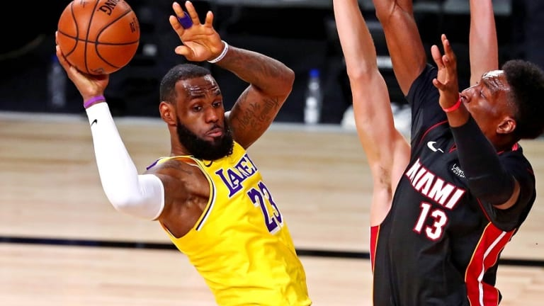 NBA Finals: Lakers' early three-for-all keys Game 1 rout of Heat