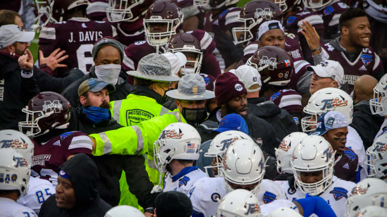 Major Brawl Breaks Out After Mississippi State's Win Over Tulsa in Armed Forces Bowl Game