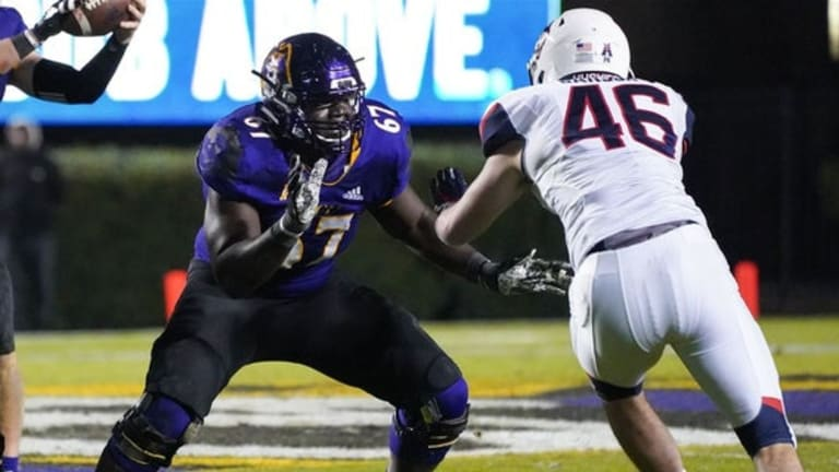 East Carolina offensive lineman D'Ante Smith set for a Massive Rise