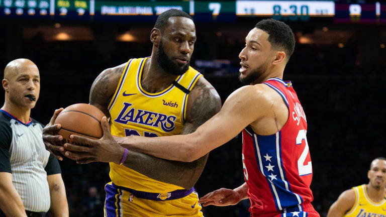 LeBron James Compliments Ben Simmons' Game Following 76ers Win over L.A.