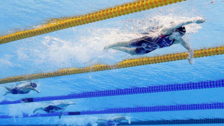 Primed for Rio, Katie Ledecky thriving in high-pressure Olympic atmosphere
