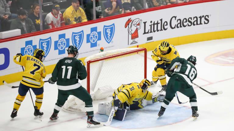Strauss Mann's Play Sparks Michigan Hockey's Success
