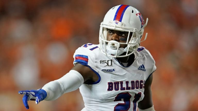 La. Tech Amik Robertson Meets with the Texans at the NFL Combine