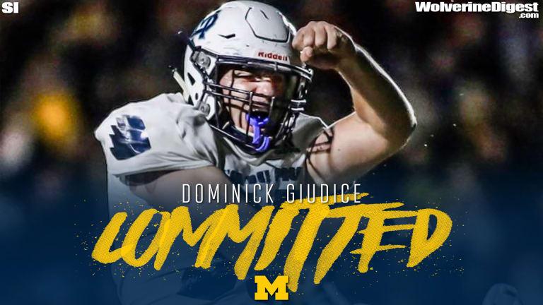 Michigan Commit Dominick Giudice Calls U-M 'Dream School'