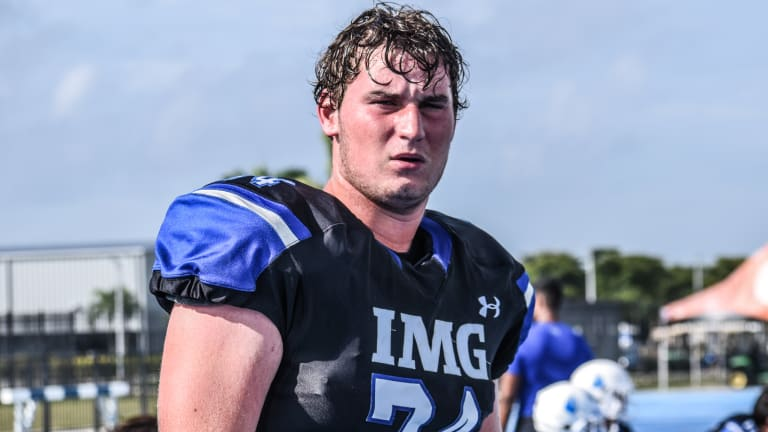 Greg Crippen Wins Spring Offensive Line MVP At IMG Academy