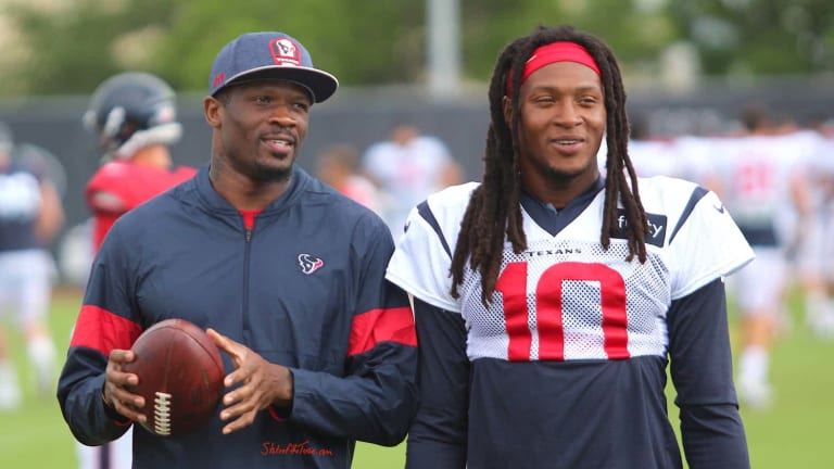 """Andre Johnson says DeAndre Hopkins' trade is """"part of the business"""""""