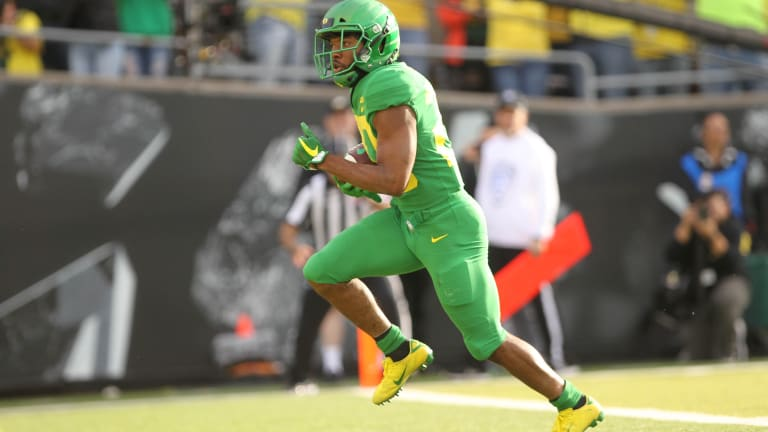 Oregon RB Brooks-James iffy for game at No. 24 Cal