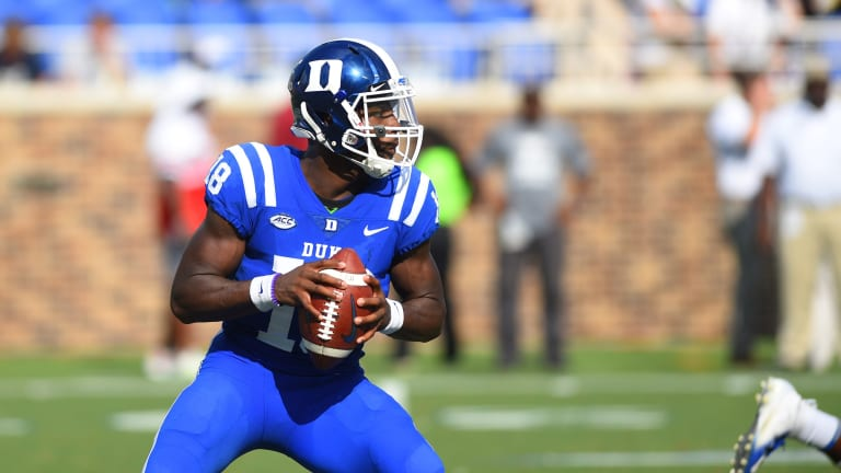 Backup QBs battle when No. 22 Duke welcomes Virginia Tech