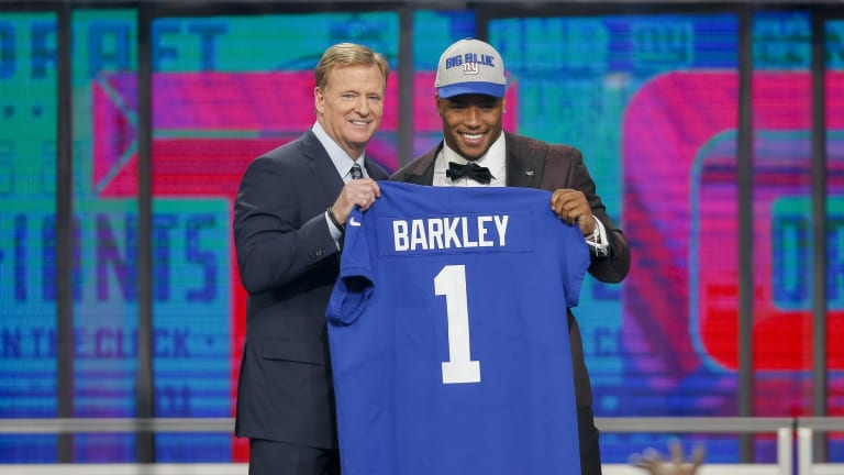Giants GM Gettleman: Barkley 'touched by hand of God'