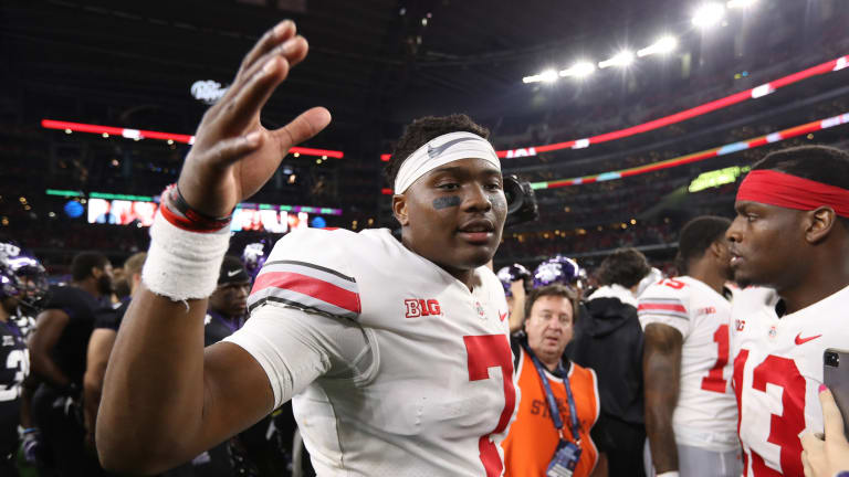 Ohio State QB Haskins on sizzling pace