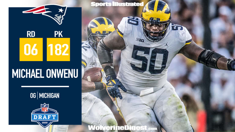 Michael Onwenu Selected by New England Patriots in Round 6