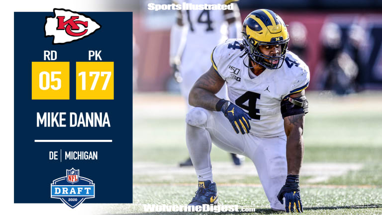 Grad-Transfer Mike Danna Goes To The Chiefs In Round 5