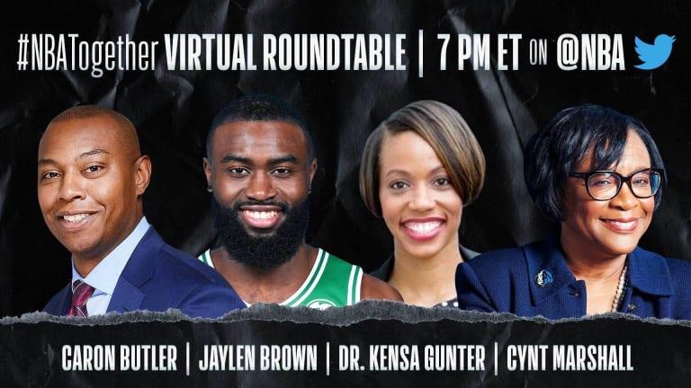 Coronavirus: Jaylen Brown and Cal Alumnus Cynt Marshall on NBA Roundtable Today