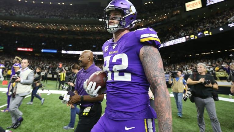 Vikings Notes and Links: Cris Carter, Dan Chisena, Kyle Rudolph