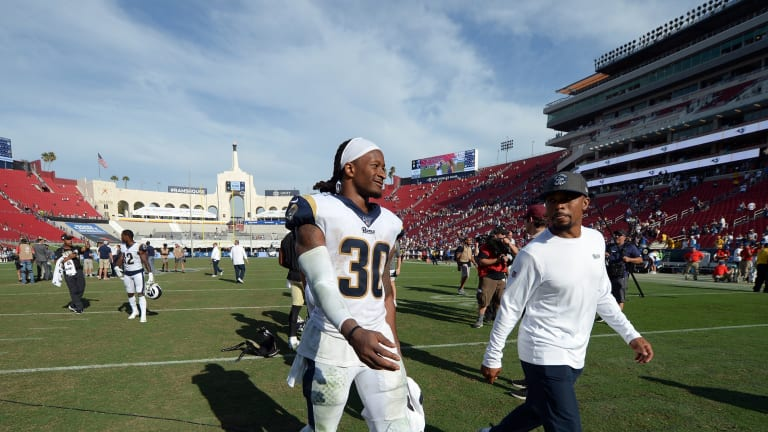 Todd Gurley's knee looking healthy in recent workout video
