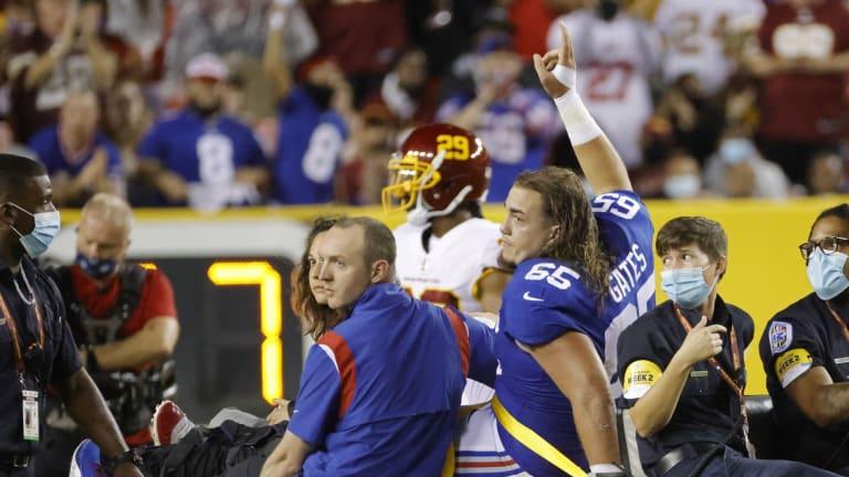 Giants' Joe Judge Admits Concern Over Nick Gates' Future
