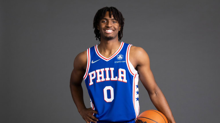 Tyrese Maxey 'In Awe' to See Reporter in Person During Sixers Media Day