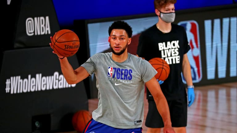 Ben Simmons Takes Physical for Sixers, Briefly Met With Team Officials