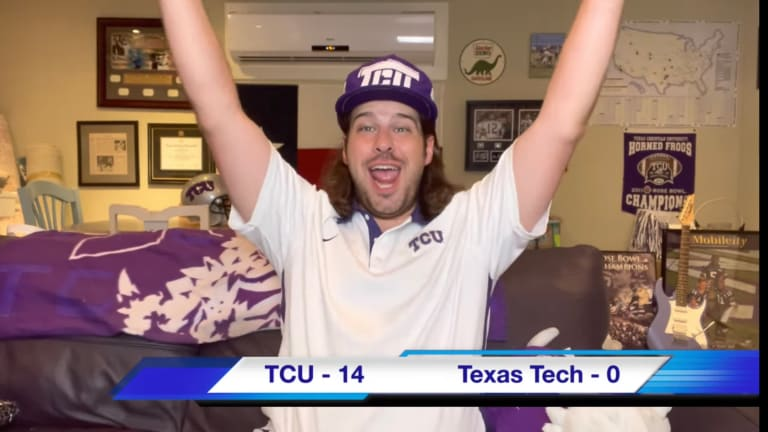 TCU Fans During the Texas Tech Game