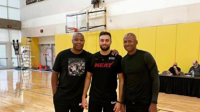 Ray Allen Makes Return to Miami Heat Practice