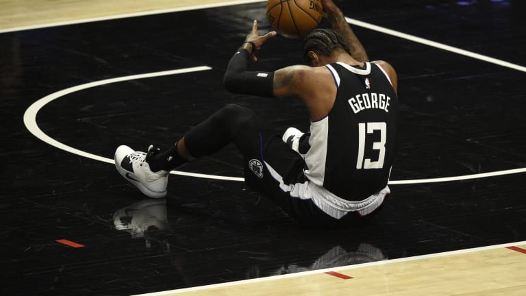 Paul George, Serge Ibaka, Patrick Beverley, and Rondo OUT against Denver Nuggets