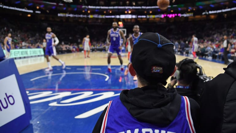 Sixers Will Have Limited Fans Courtside vs. Timberwolves