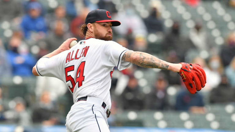 Allen's Solid Starting Debut for Indians Wasted; Bats Quiet in 3-0 Loss to Royals in Home Opener