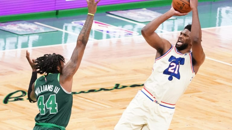 Sixers' Joel Embiid is Fired Up About Missing Free Throws vs. Celtics