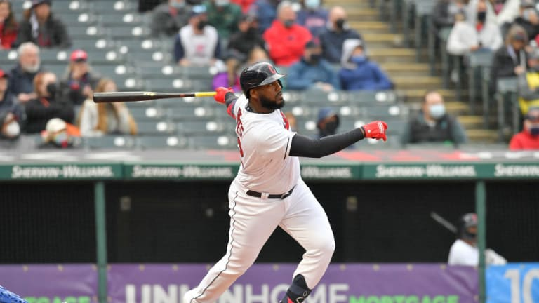Reyes' Two Blasts, Plesac's Impressive Outing Leads Indians to 4-1 Win Over Tigers To Move to 3-3