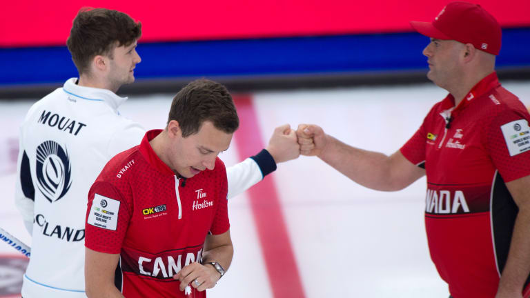 Curling Bubble Bursts with Positive Tests