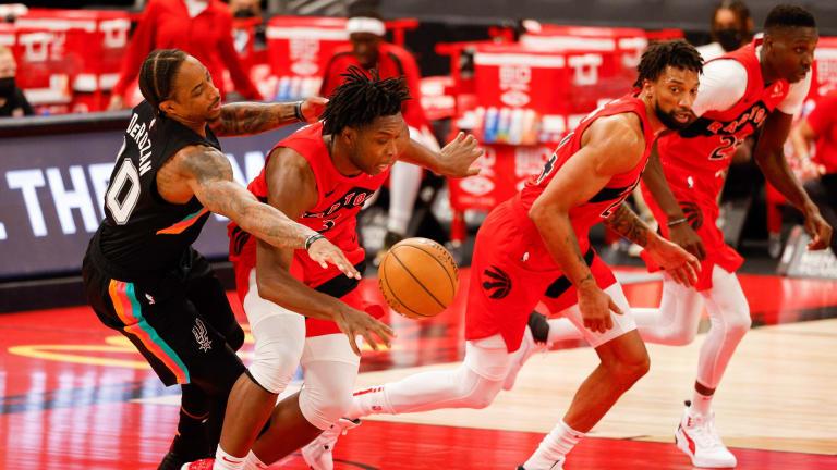OG Anunoby Leads Supersized Raptors Over Spurs