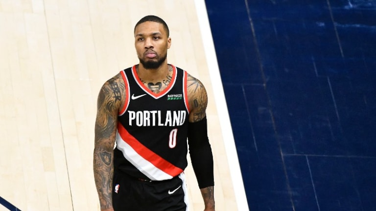 Damian Lillard Out Versus Spurs With Right Hamstring Issue