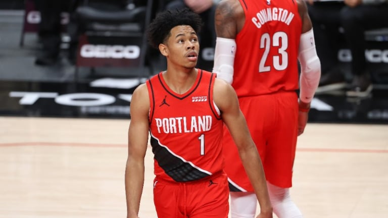 Anfernee Simons Played the Best Defense of his Career Against the Spurs
