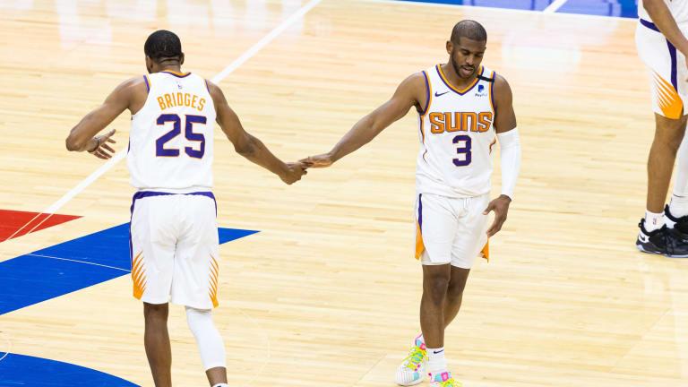 Suns' Chris Paul, Mikal Bridges React to Joel Embiid's Buzzer-Beater Shot