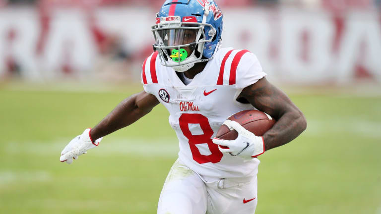 New York Jets Select Ole Miss WR Elijah Moore With No. 34 Pick in NFL Draft