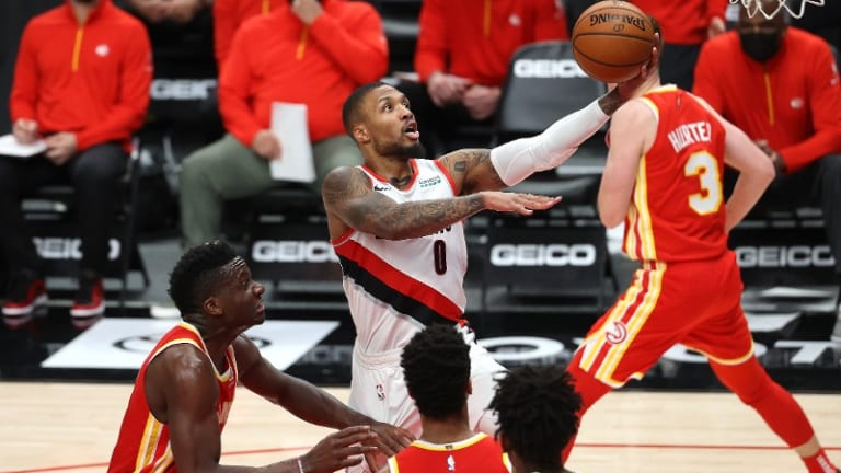 Blazers Come Up Short Against Hot-Shooting Hawks