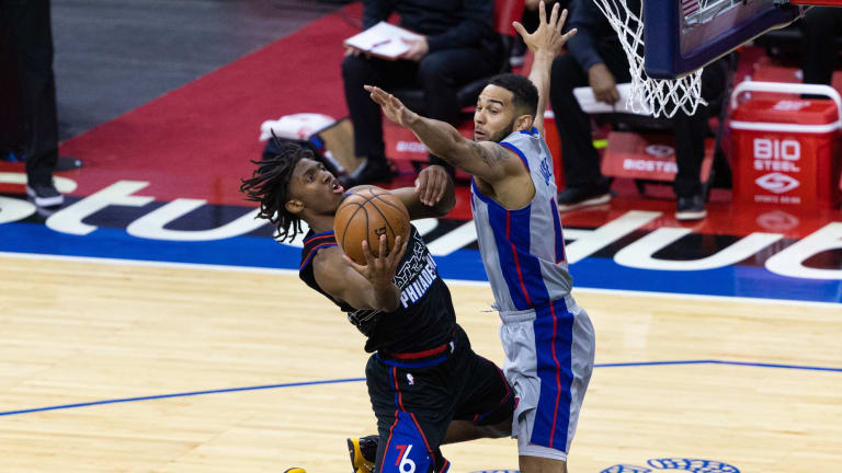 Joel Embiid, Dwight Howard Praise Tyrese Maxey After Sixers Beat Pistons