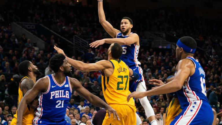 Sixers' Ben Simmons Trails Rudy Gobert in NBA's DPOY Ladder During Final Week