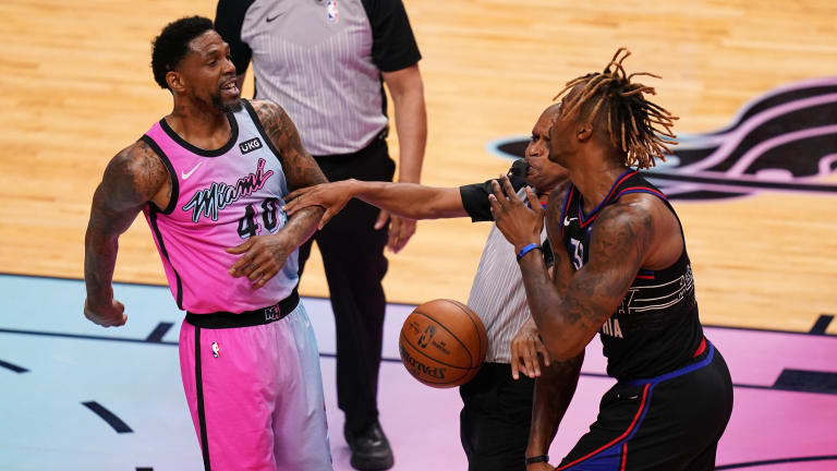 Heat's Udonis Haslem Addresses Altercation With Sixers' Dwight Howard