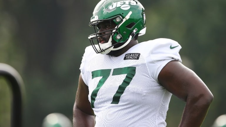 Mekhi Becton Sidelined From Jets OTAs With Foot Injury