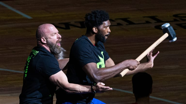 WWE Legend Triple H Thanks Sixers, Joel Embiid for Having Him on Sunday