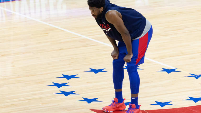 Joel Embiid Questionable for Game 2 vs. Hawks
