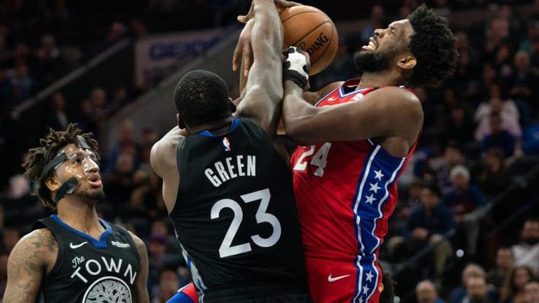 Draymond Green Enjoyed Joel Embiid's 40-Point Outing vs. Hawks