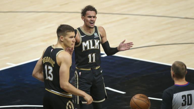 Hawks' Nate McMillan, Trae Young Discuss Bogdan Bogdanovic's Injury