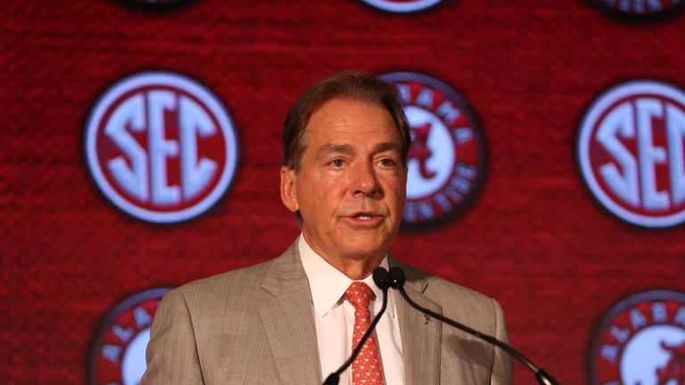 Nick Saban Raves About Transfers WR Jameson Williams and LB Henry To'oTo'o