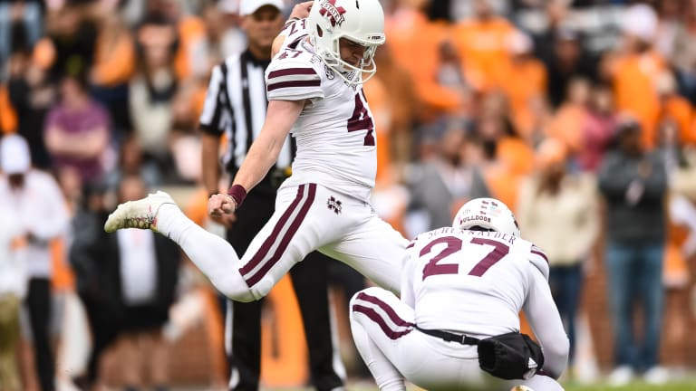 Former Mississippi State Kicker Named to Lou Groza Award Watch List