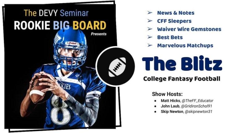 College Fantasy Football Week 2 Slate | CFF Sleepers, Match-Ups, DFS & Best Bets