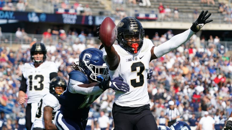 David Bell, Purdue Offense Dominates First Half in 49-0 Victory Over UConn on the Road
